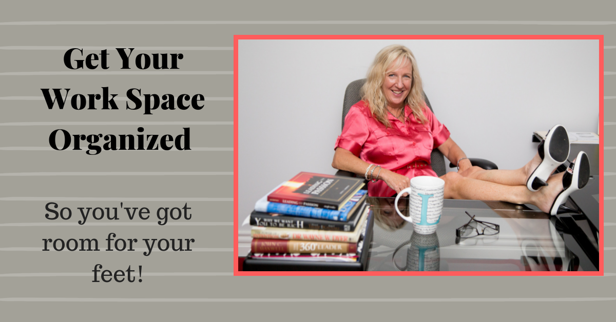 get your work space organized