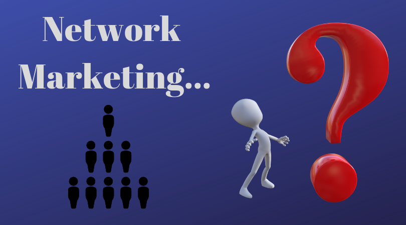 big red question mark - network marketing legit business