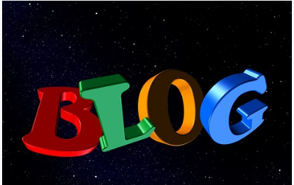big colorful letters spelling BLOG - to make money from home